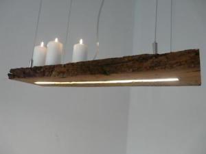 LED Lampe Haengeleuchte Holz Antik Balken Deckenlampe Leuchte