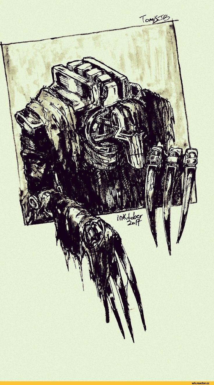 Flayed One, Necrons, Warhammer 40000, warhammer40000, warhammer40k, warhammer 40k, waha, fortune, fandom, inktober