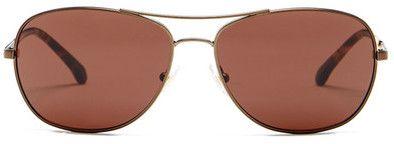 Brooks Brothers Women's Aviator Sunglasses