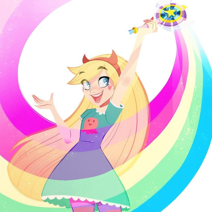 """You can now preorder this limited edition """"Sparkle, Glitter, Rainbow"""" I did exclusively for @gallerynucleus' event Saturday. Go check it out: http://www.gallerynucleus.com/detail/22539/ #girlsinanimation #starbutterfly #starvstheforcesofevil @cyclopsprints"""