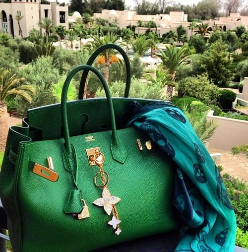 Green Hermes... Fabulous for a brunette                              …