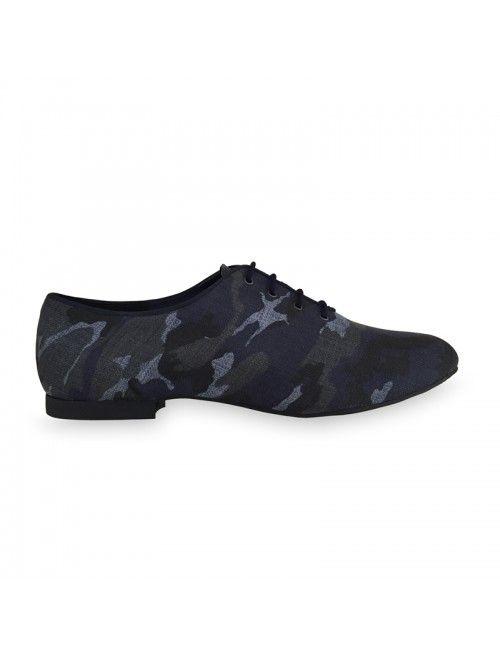 MARC | Zapato de baile de hombre en camuflaje azul. Made in Spain #baile #zapatosalsa #danceshoes #zapatosdebaile #bachata #kizomba
