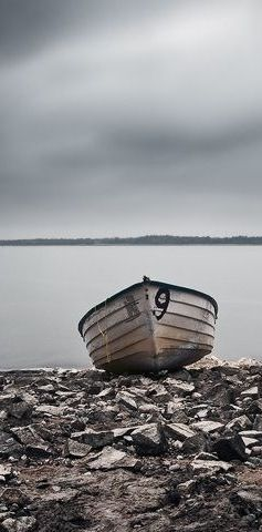 Grey Abandoned Boat