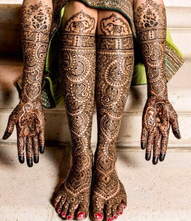 Henna Tattoo For Indian Wedding: Indian Intricate Bridal Henna Check Out More Desings At