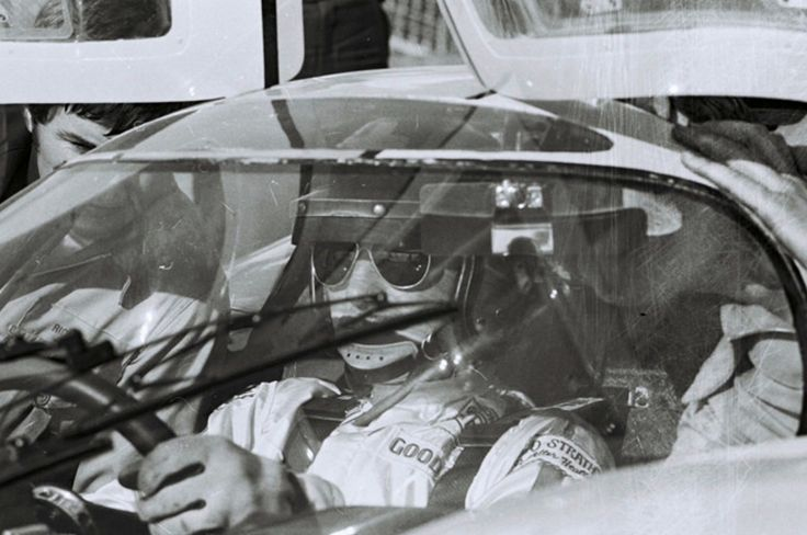 Jo Siffert awaiting the off in his Porsche 917K, Daytona 1970 (Dave Friedman)...