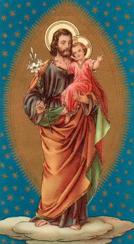 St. Joseph and child Jesus... Alleluia.