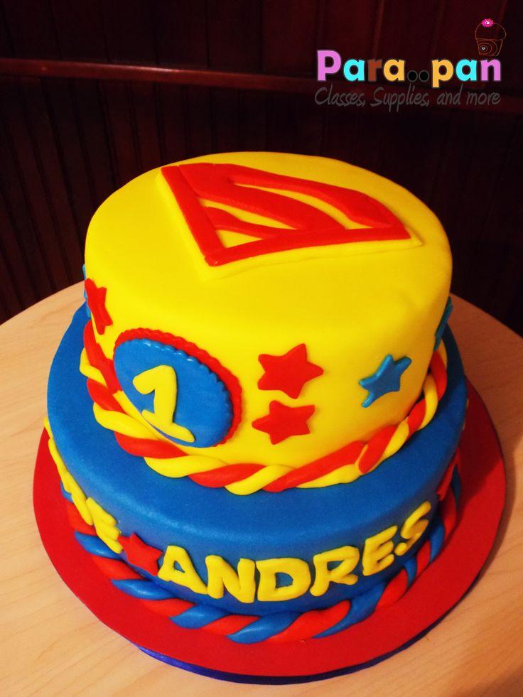 El primer año de Andres.. Pastel de Superman!!!