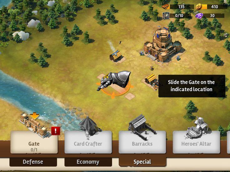 Siegefall | Tycoon Tutorial | UI HUD User Interface Game Art GUI iOS Apps Games | Gameloft | www.girlvsgui.com