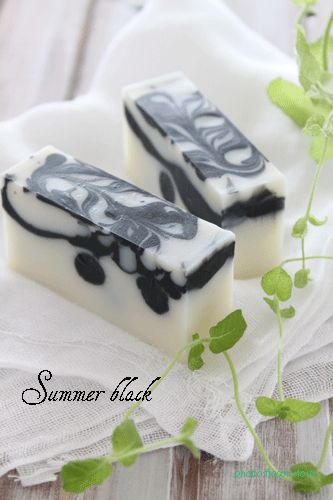 summer black - home made soap