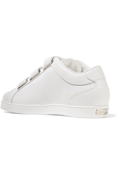 Jimmy Choo - Ny Studded Leather Sneakers - White - IT