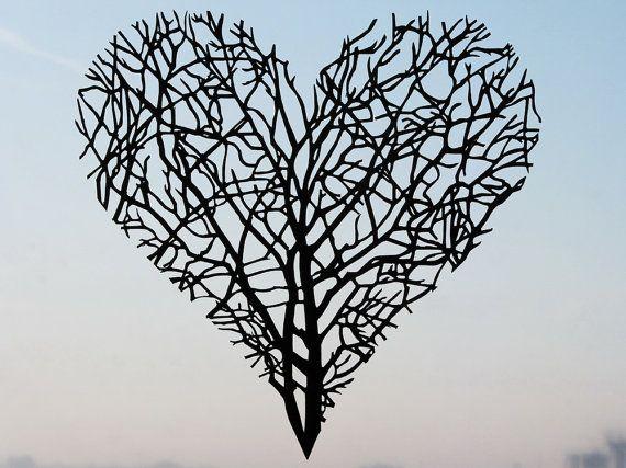 Branches Heart Handmade Original Papercut First by DreamPapercut