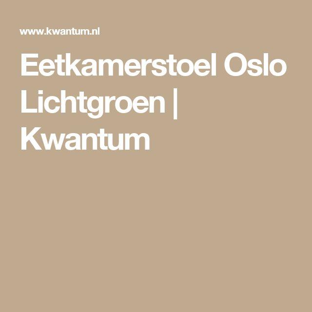 Eetkamerstoel Oslo Lichtgroen   Kwantum