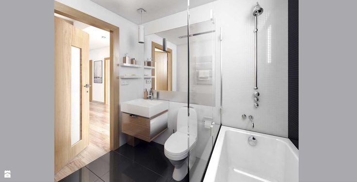 Dom jednorodzinny - łazienka - Łazienka - Styl Nowoczesny - MAQ Studio | Architektura + Wnętrza