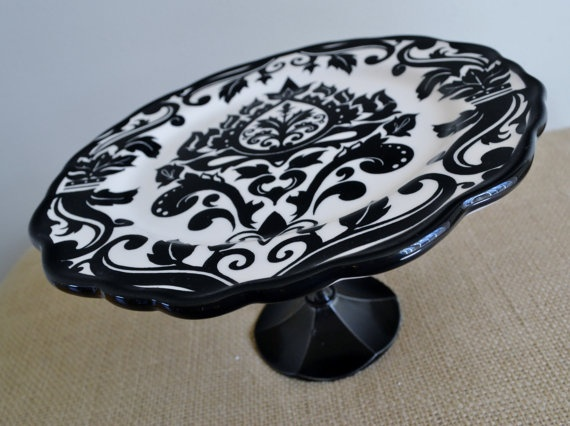 Black Amp White Cake Stand V Amp S Wedding Pinterest