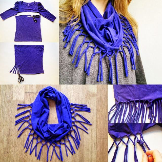 DIY Fashion T Shirt Scarf Click the picture to see more