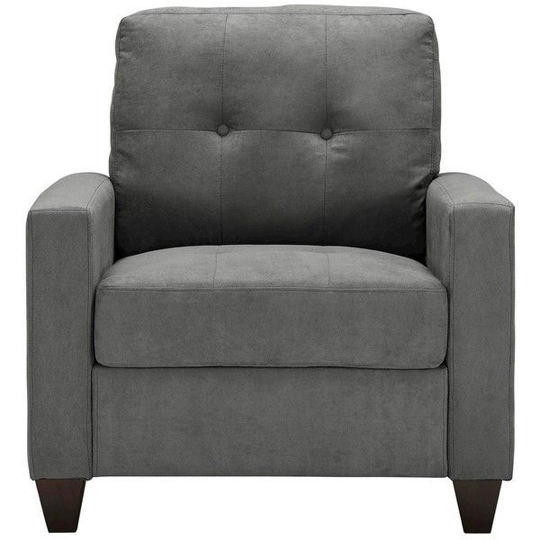 Charcoal Grey Bucket Accent Chair: Accent Chair: Upholstered Chair: Emmeline Chair
