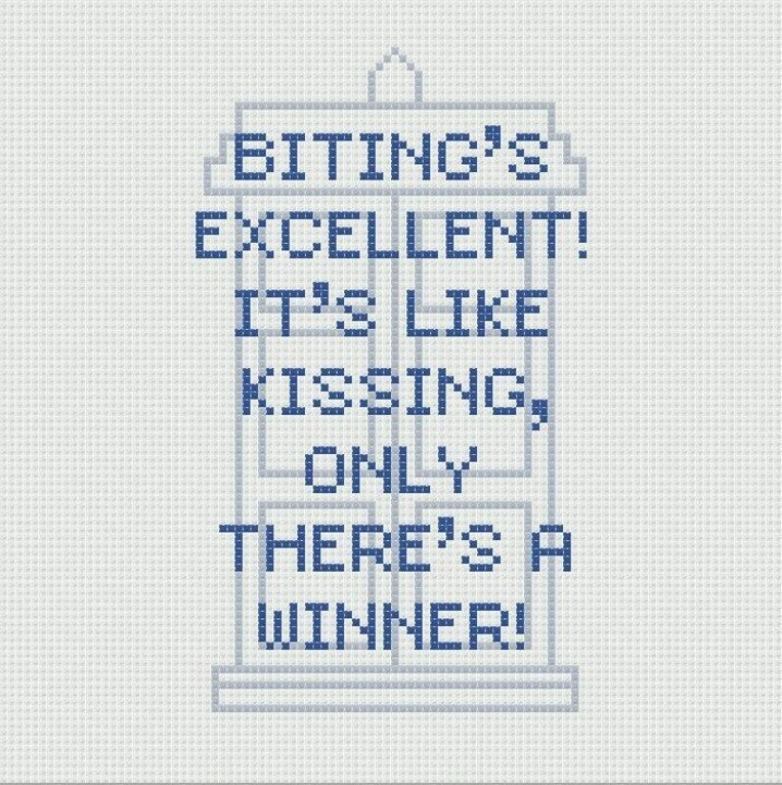 Doctor who cross stitch. Seems fairly simple