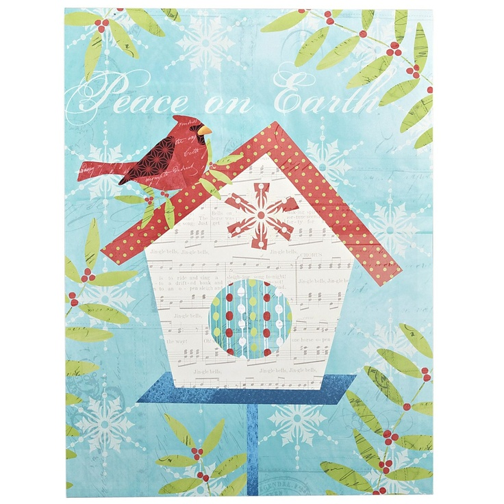 Pier 1 Holiday Birdhouse Art