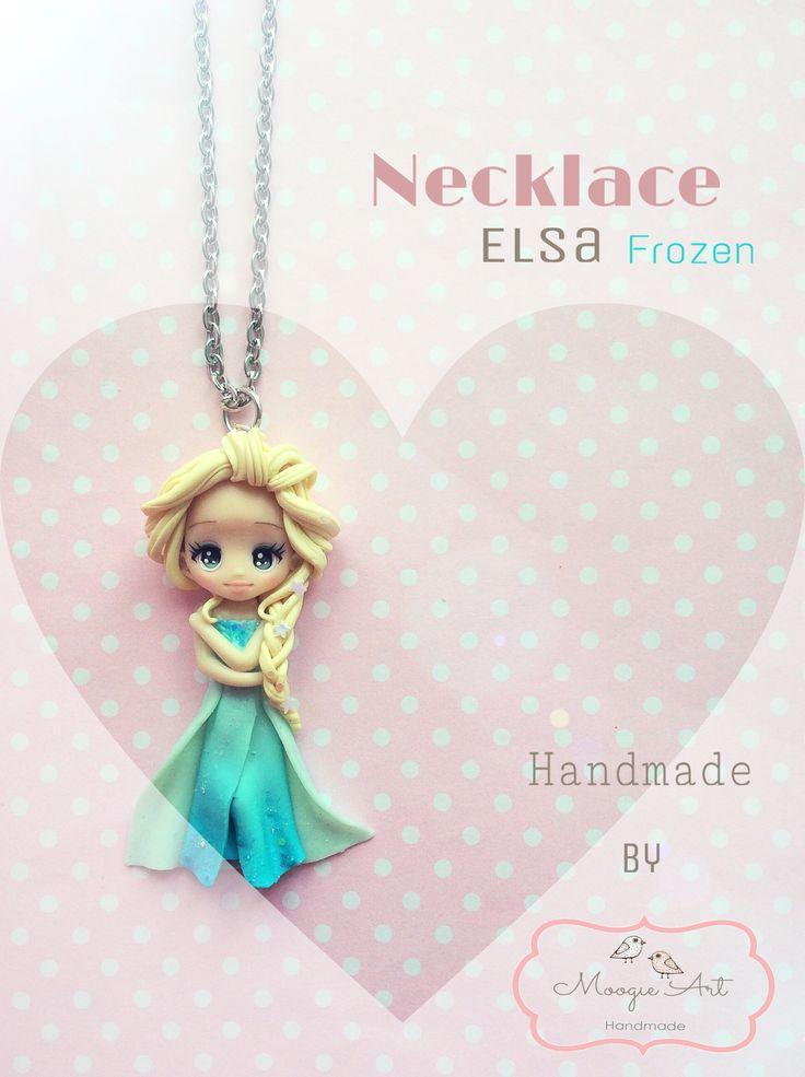Elsa fimo pendant accessorie necklace