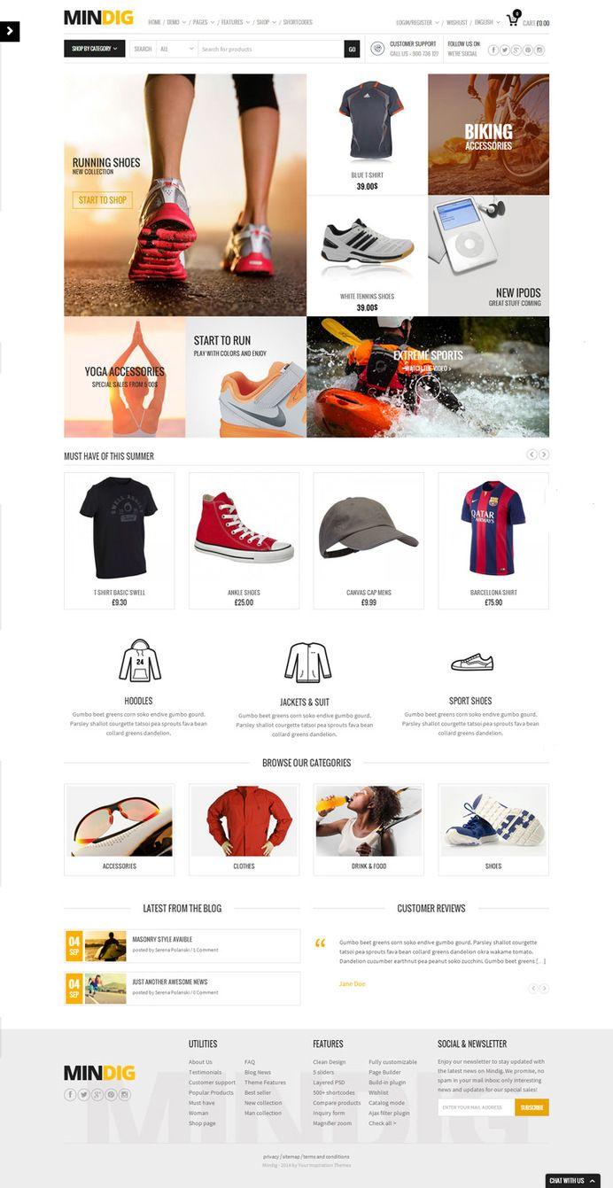 Web Design Clean Simple Fashion Website Web Ui Design Web