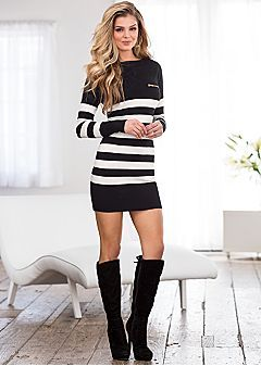 Sweater Dresses - Long Sleeve, Turtleneck, Knit & More....add leggings of course, but cute!