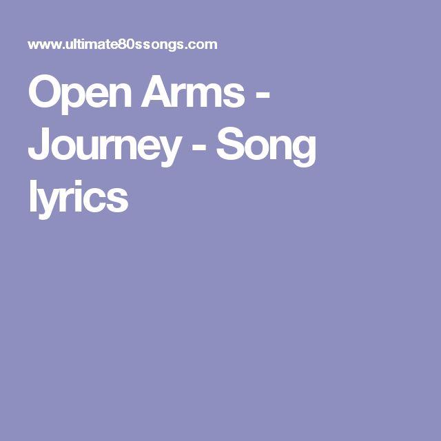 Open Arms - Journey - Song lyrics