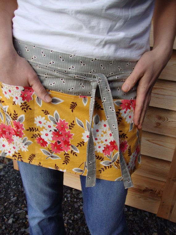 Waitress Style Half Apron by MadebyDacia on Etsy, $30.00
