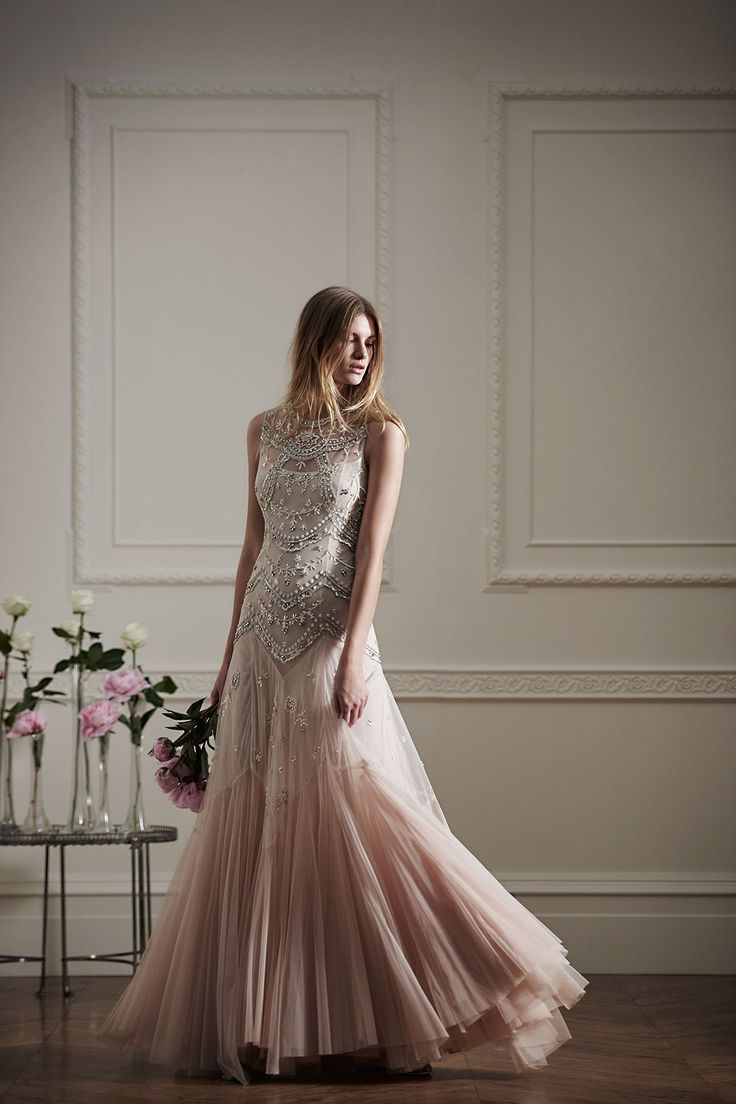 Bridal tulle V-cut gown, Needle & Thread. Holy crap this is so lovely! -C