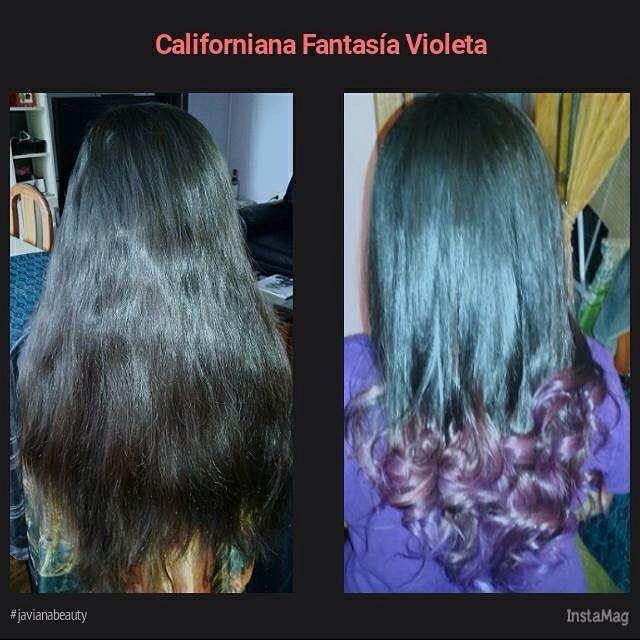 Californianas en Fantasía Violeta más corte en capas #javianabeauty #haircolor #hairinstagram #hairinspiration #hairviolet #californianas.
