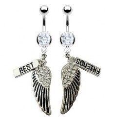 Een mooi setje van 2 navelpiercings. Voor jou en je beste vriendin! Bestellen kan op www.piercingparadise.com