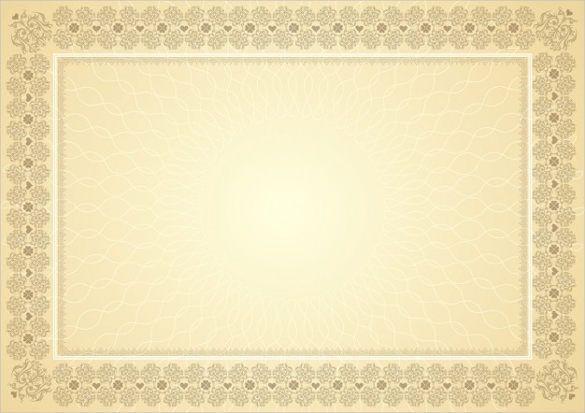 Blank Vintage Border Certificates Blank Certificates Vintage Borders Frame Blank Certificate