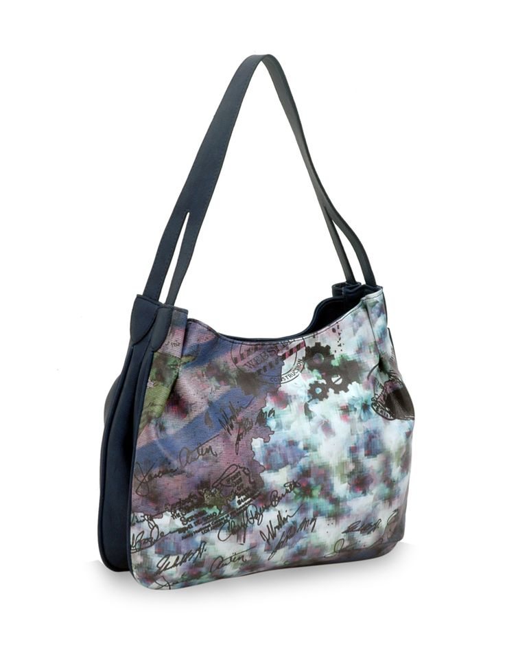 Diffuse Dingdong Blue: An blue artsy nature inspired bag by Baggit.