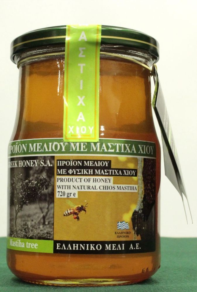 Organic Thyme Raw Honey with PHYSICAL CHIOS MASTIC 260gr Greek Honey NEW HARVEST #GreekHoney