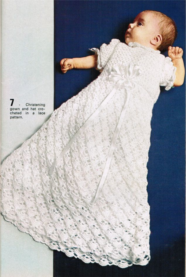 Crochet Christening Gown Pattern Irish Lace Crochet