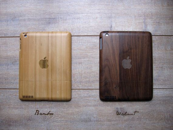 Wooden laser-engraved Ipad cases - apple    Beautiful and elegant wooden case with engraved design to protect your iPad 2. This wooden case is