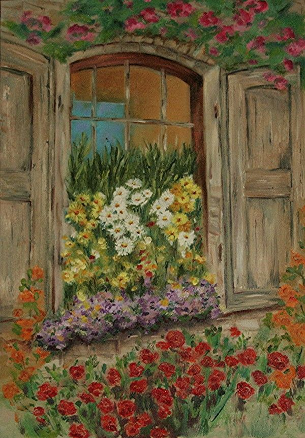 1501 best images about flowers on my window art on for Peinture sur fenetre