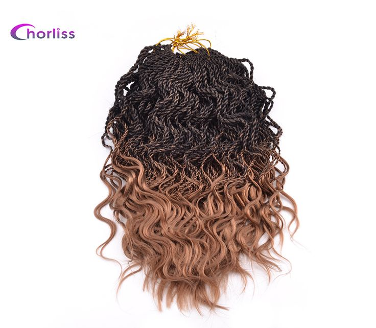 "Chorliss 14"" Curly Senegalese Crochet Braids Twist 35 Roots/Pack Ombre Synthetic Pre-twist Braiding Hair Extensions 9 Packs/Lot"