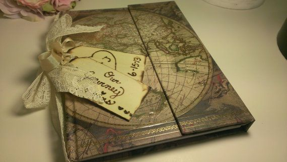 shabby chic guest book, vintage wedding guest book, vintage travel wedding journal, great Gatsby on Etsy, $29.95