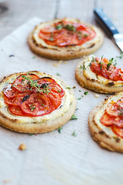 {Cherry tomato tartlets.}