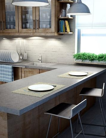 Inspiration For Our Kitchen Remodel. Slate Counters And Natural Wood.
