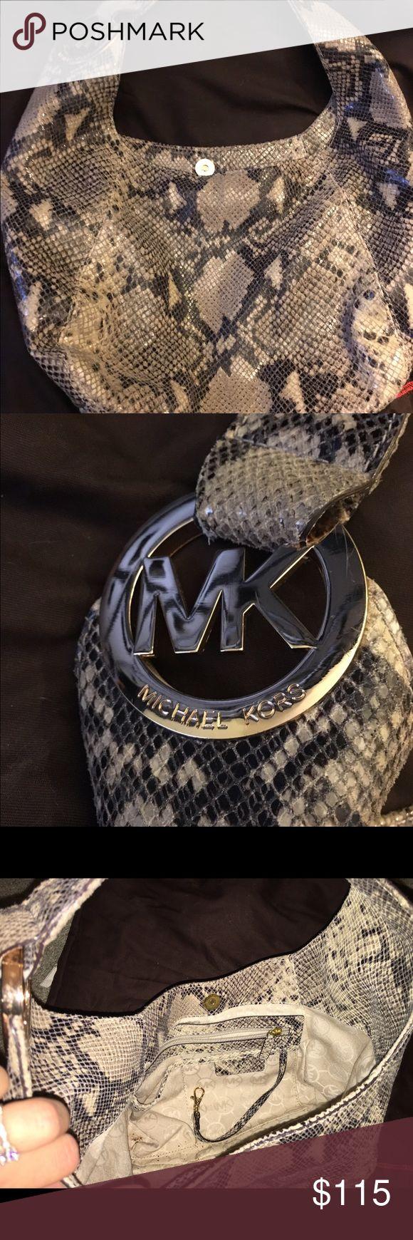 Michael Kors Fulton embossed Python hobo MICHAEL Michael Kors Fulton Embossed Python hobo bag. Never used. 13 X 19.25 x 7. MICHAEL Michael Kors Bags Hobos