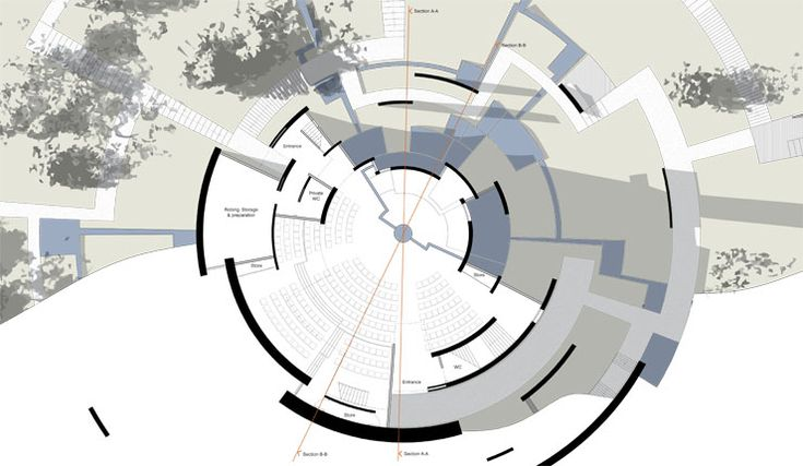 circular architecture plan - Google Search