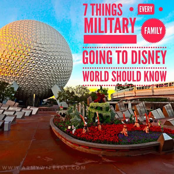Things for military families going to Disney World to know.
