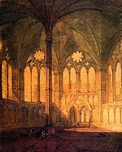 The Chapter House Salisbury Cathedral - Joseph Mallord William Turner, 1775-1851 - OldMastersOnline.com