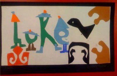 Matisse inspired name design