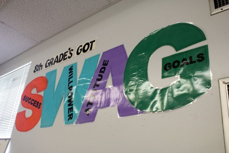 SWAG:  success, willpower, attitude, goals.  This would be awesome, and the kids would love it!