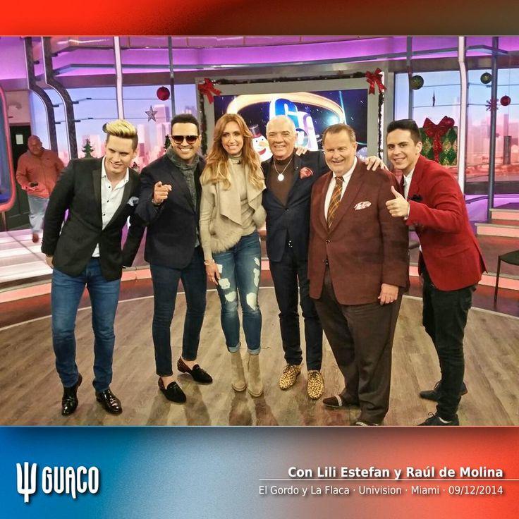 ► GUACO con Lili Estefan y Raúl de Molina en el set de El Gordo y La Flaca · Univision · Miami Ψ #PresenteContinuo