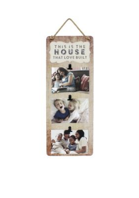 Fetco Home Decor  This Is the House That Love Built Wall Collage - Tea Stain