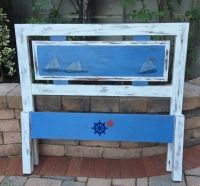 Twin nautical headboard and footboard for sale at #annapolis #maryland