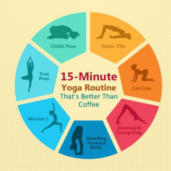 Get your endorphins pumping in the am with a 15 minute yoga routine